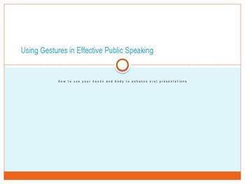 Speech Basics