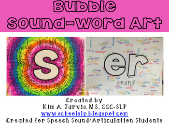 Speech:  Bubble Sound-Word Art!