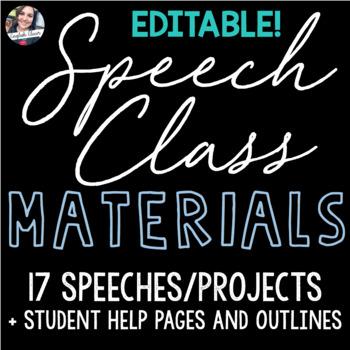 Speech Class Materials