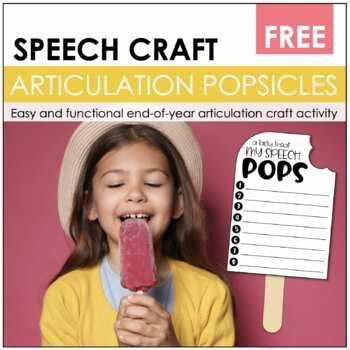 """Speech Craftivity- """"Say""""sicles"""