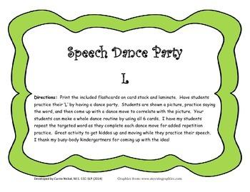 Speech Dance Party:  L