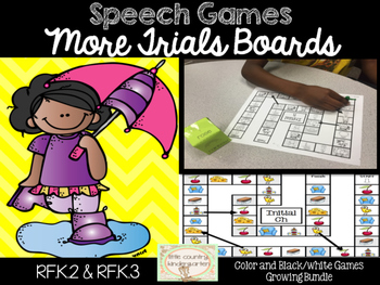 Speech Games: More Trials Game Boards Bundle of Sounds