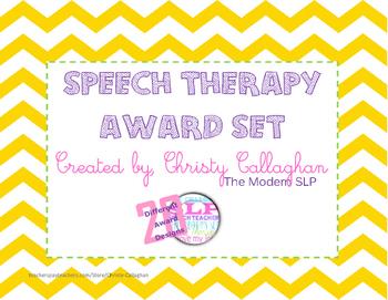 Speech/Language Award Set