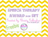 Speech/Language Award Set Freebie