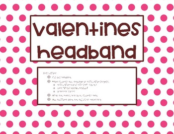 Speech Headband for Valentines