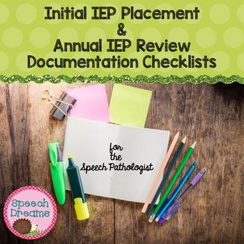 Speech Documentation Checklist EDITABLE {initial annual IE