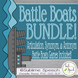 Speech & Language Battle Boats Bundle