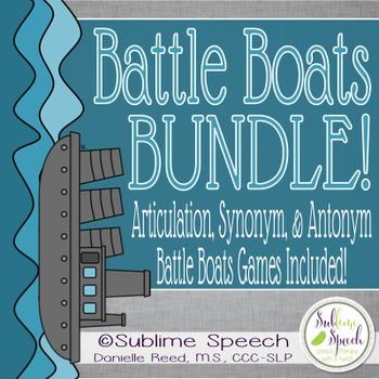 Speech & Language Battle Boats Bundle