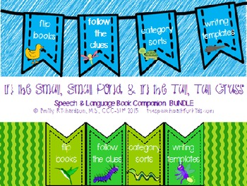 Speech Language Book Companion: In the Tall,Tall Grass & S