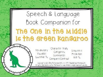 Speech & Language Book Companion: The One in the Middle is