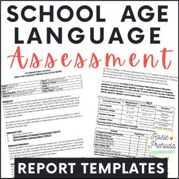 {Mini Bundle} Speech Evaluation Templates