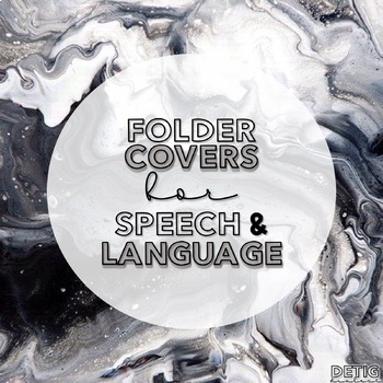 Speech & Language Folder Cover/Insert