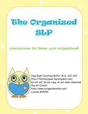Speech-Language Pathology Organization and Documentation