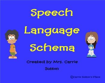 Speech Language Schema SMART Notebook