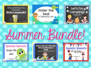 Speech & Language Summer Bundle!