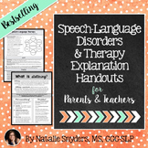 Speech-Language Therapy Explanation Handouts for Parents &