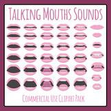 Speech Mouths - Sounds Talking Phonemes Clip Art Set Comme