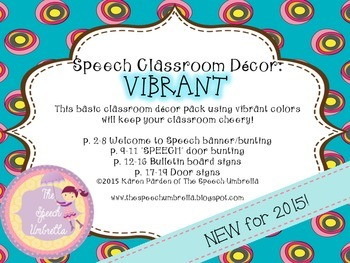 Speech Room Decor: Vibrant