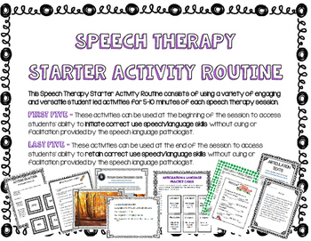 Speech Routines Bundle