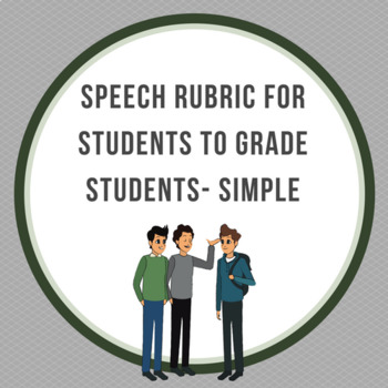 Speech Rubric for Students to grade Students- simple