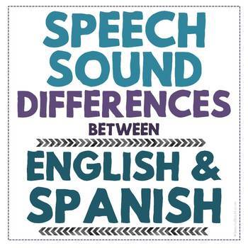 Speech Sound Differences Between English and Spanish - Fre