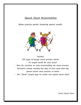 Speech Sound Home Practice and Accountability Charts