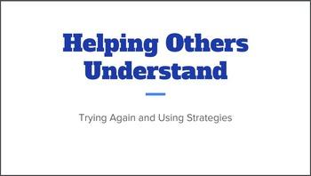 "Speech Strategies and Frustration -Social Narrative: ""Help"