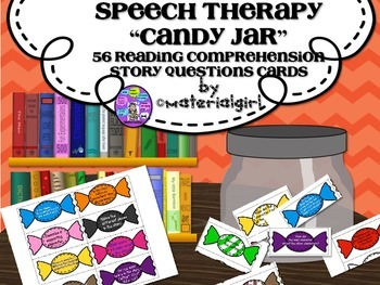 Speech Therapy 56 Reading Comprehension Story Questions Ca