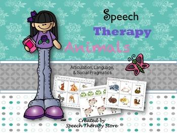 Speech Therapy Animal Bundle: Language, Articulation, & So