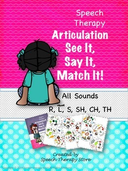 Speech Therapy Articulation ALL SOUNDS Bundled: See It, Sa
