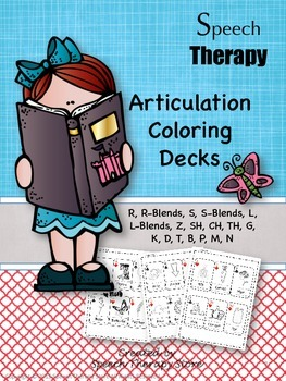Speech Therapy Articulation Coloring Decks