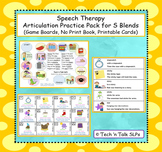 Speech Therapy Articulation Practice Pack for S Blends