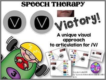 Speech Therapy Articulation /V/ graphic organizer visual i