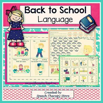 Speech Therapy Back to School Language Bundle
