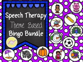 Speech Therapy Bingo Growing Bundle