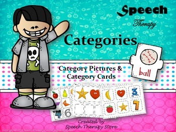 Speech Therapy Category Games