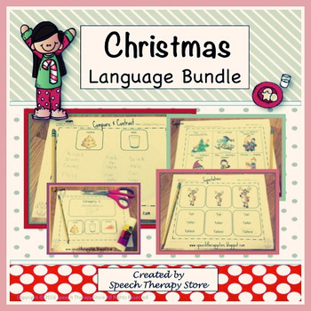 Speech Therapy Christmas Language Bundle