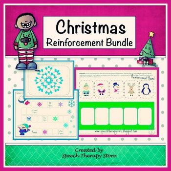 Speech Therapy Christmas Reinforcement Games