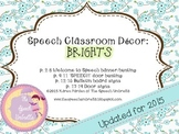 Speech Room Decor: Brights