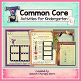 Speech Therapy Common Core Activities for Kindergarten