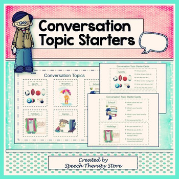Speech Therapy Communication Topic Starters for Life Skill