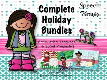 Speech Therapy Complete Fall & Winter Holiday Bundles: Get