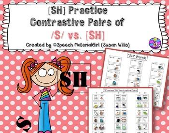 Speech Therapy Contrastive Minimal Pairs [SH] vs /S/ no-pr