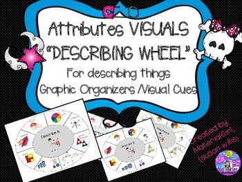 Speech Therapy Describing Wheel Attributes Visual Cues Autism