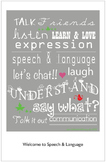 Speech Therapy Door Poster - Back-to-School Theme (11x17)