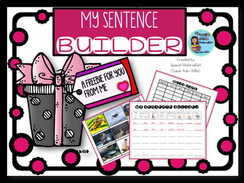 Speech Therapy Freebie gift Sentence Builder template comp