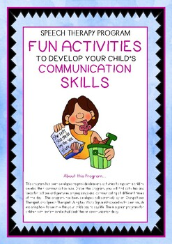 Speech Therapy – Fun Activities to develop Communication S