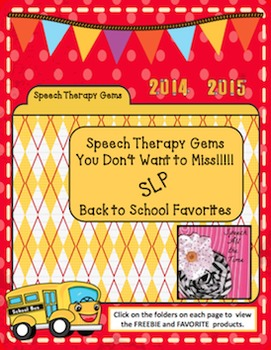 Speech Therapy Gems with Speech All the Time