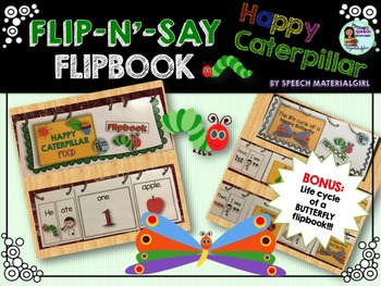 Speech Therapy Happy Caterpillar Butterfly Life Cycle Flip