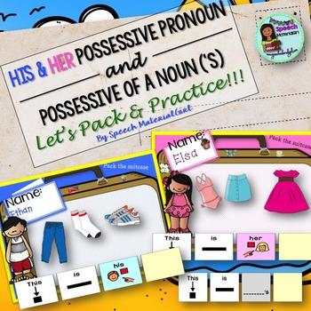 Speech Therapy His Her Possessive of noun Possessive 's Ac